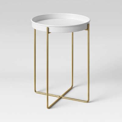 "12"" Iron/Brass Plant Stand White - Project 62™"