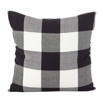 Buffalo Check Plaid Design Cotton Down Filled Throw Pillow Saro Lifestyle Target