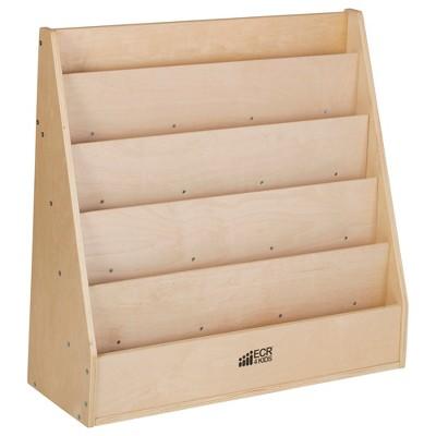 ECR4Kids Birch Streamline Book Display Stand, Kids Wooden Book Rack, Forward Facing Bookshelf