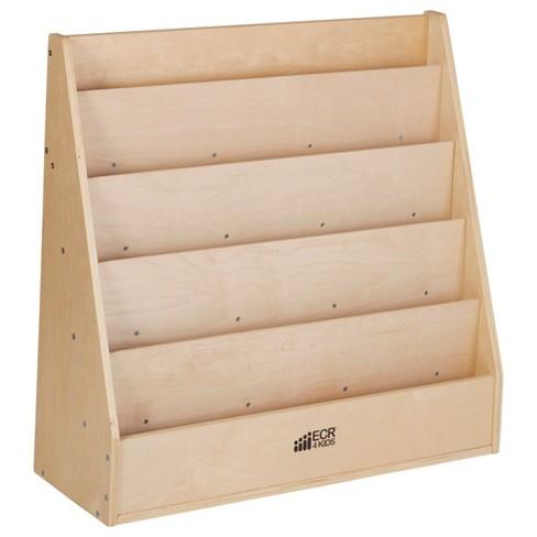 ECR4Kids Birch Streamline Book Display Stand, Kids Wooden Book Rack, Forward Facing Bookshelf - image 1 of 4