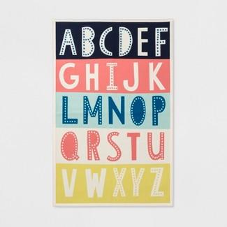 """26""""x4 Alphabet Activity Rug Blue - Pillowfort™"""