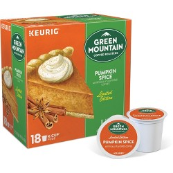 Green Mountain Coffee Pumpkin Spice Keurig Single-Serve K-Cup Pods, Light Roast Coffee, 18ct