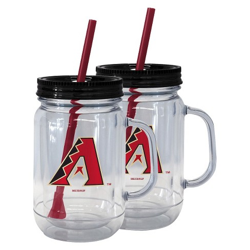 MLB Boelter Brands 2 Pk Handled Straw Tumbler Set - 20 oz - image 1 of 1