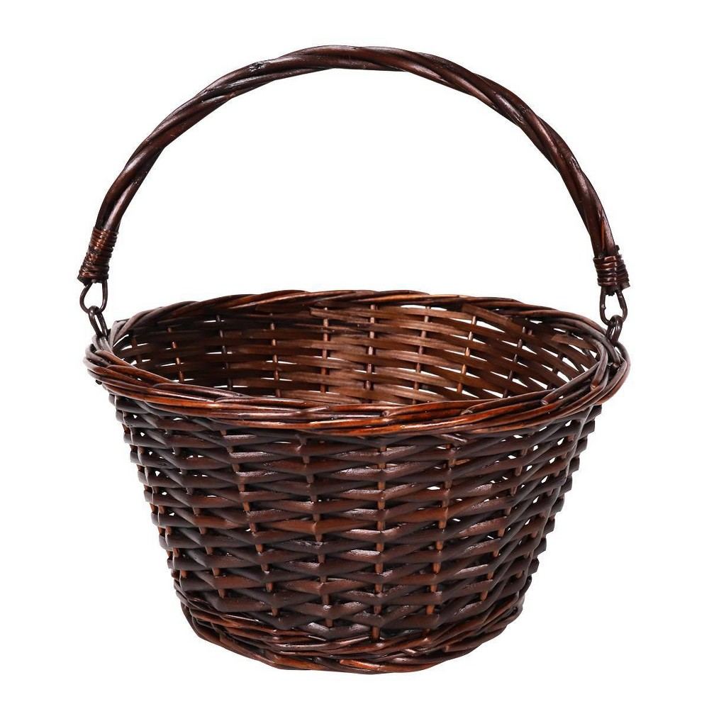 "Image of ""12"""" Willow Easter Basket Dark Brown - Spritz"""