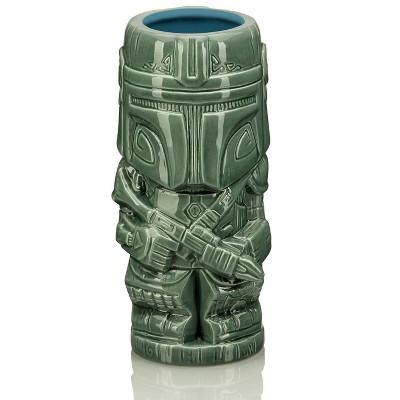 Beeline Creative Geeki Tikis Star Wars The Mandalorian Mando Mug | Ceramic Tiki Cup | 20 Ounces