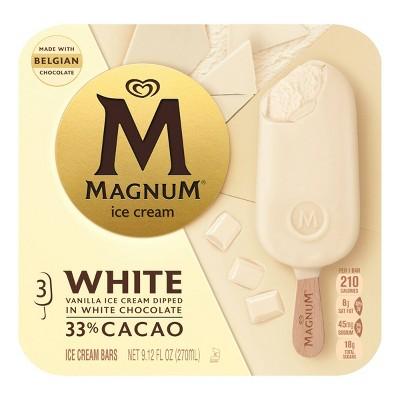 Magnum White Chocolate Ice Cream Bars - 3ct