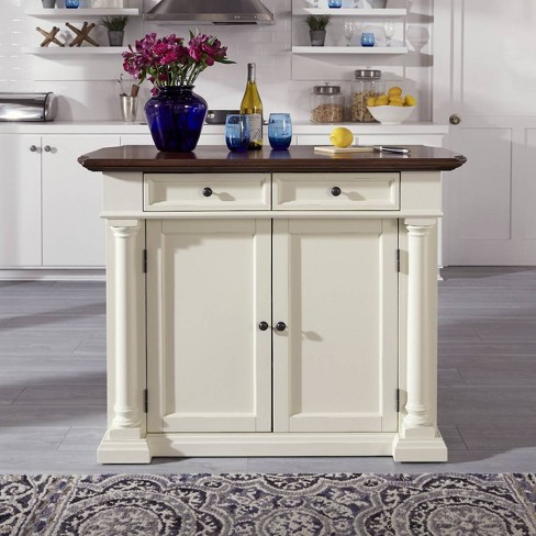 Beacon Hill Solid Wood Top Kitchen Island - Home Styles