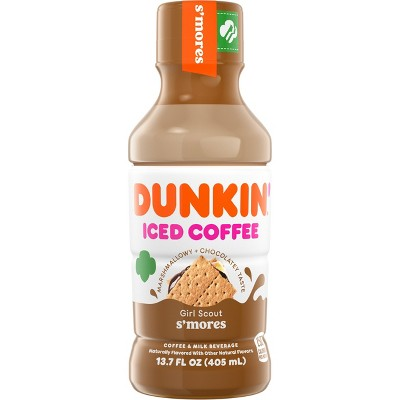 Dunkin Donuts S'Mores Iced Coffee Beverage - 13.7 fl oz Bottle
