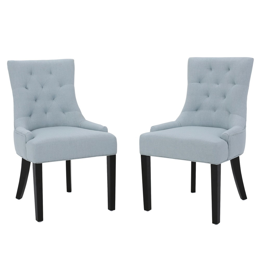 Set of 2 Hayden Tufted Dining Chairs Light Sky - Christopher Knight Home was $284.99 now $185.24 (35.0% off)
