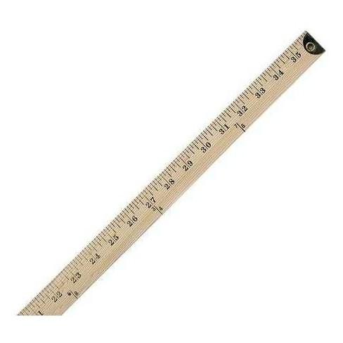 WESTCOTT 10425 Ruler,Wood,36 In - image 1 of 1