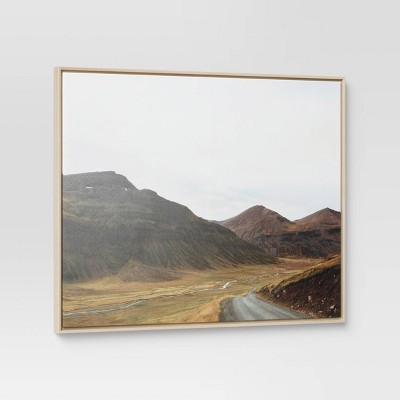 """24"""" x 30"""" Grassy Hillside Framed Wall Art - Threshold™"""