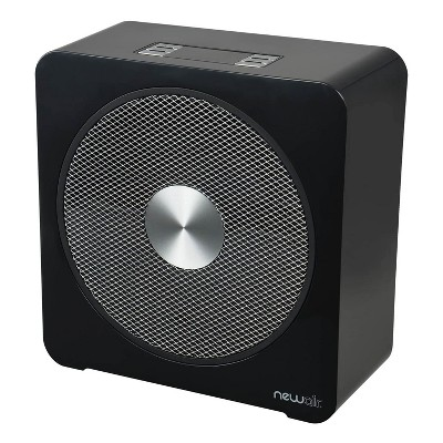 NewAir 120V 1500 Watts Portable Adjustable Ceramic Whisper Quiet Whole Room Fan Electric Indoor Garage Workshop Space Heater, Black