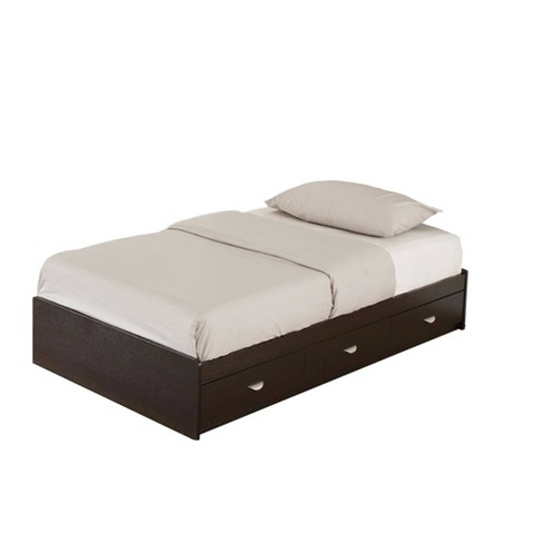 Twin Luxurious Chest Bed With 3 Drawers Dark Brown Benzara Target