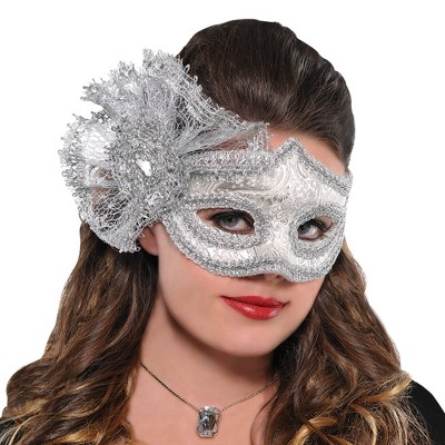Adult Platinum Parisian Mask Accessory Halloween Costume