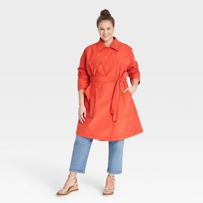 Women's Plus Size Fashion Rain Coat - Ava & Viv™