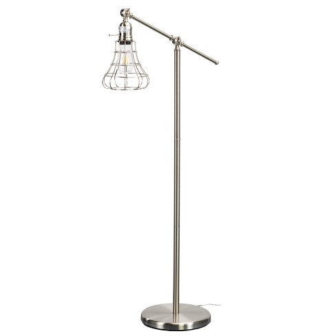 Cano Floor Lamp Brushed Nickel (Includes Energy Efficient Light Bulb) - Aiden Lane - image 1 of 4
