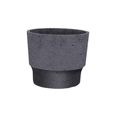 The HC Companies 3 Inch Round Plastic Sprite Decorative Indoor Flower Succulent Planter Pot with Drain Plug Hole, Faux Concrete