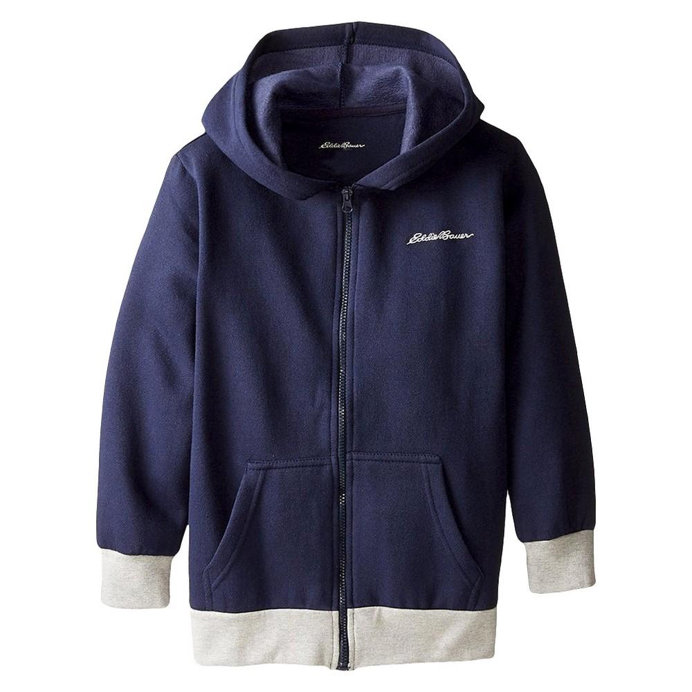 Eddie Bauer Boys' Fleece Hooded Zip-Up 10-12 - Navy (Blue)