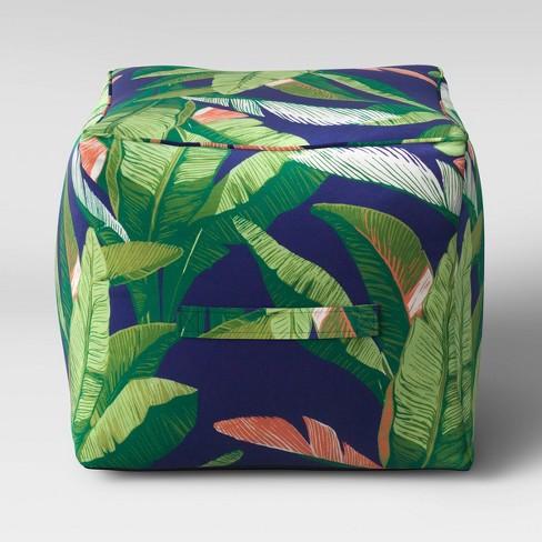 Decorative Pouf DuraSeason Fabric™ Banana Leaf - Threshold™ - image 1 of 2