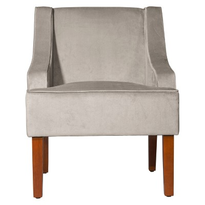 Velvet Swoop Armchair - HomePop