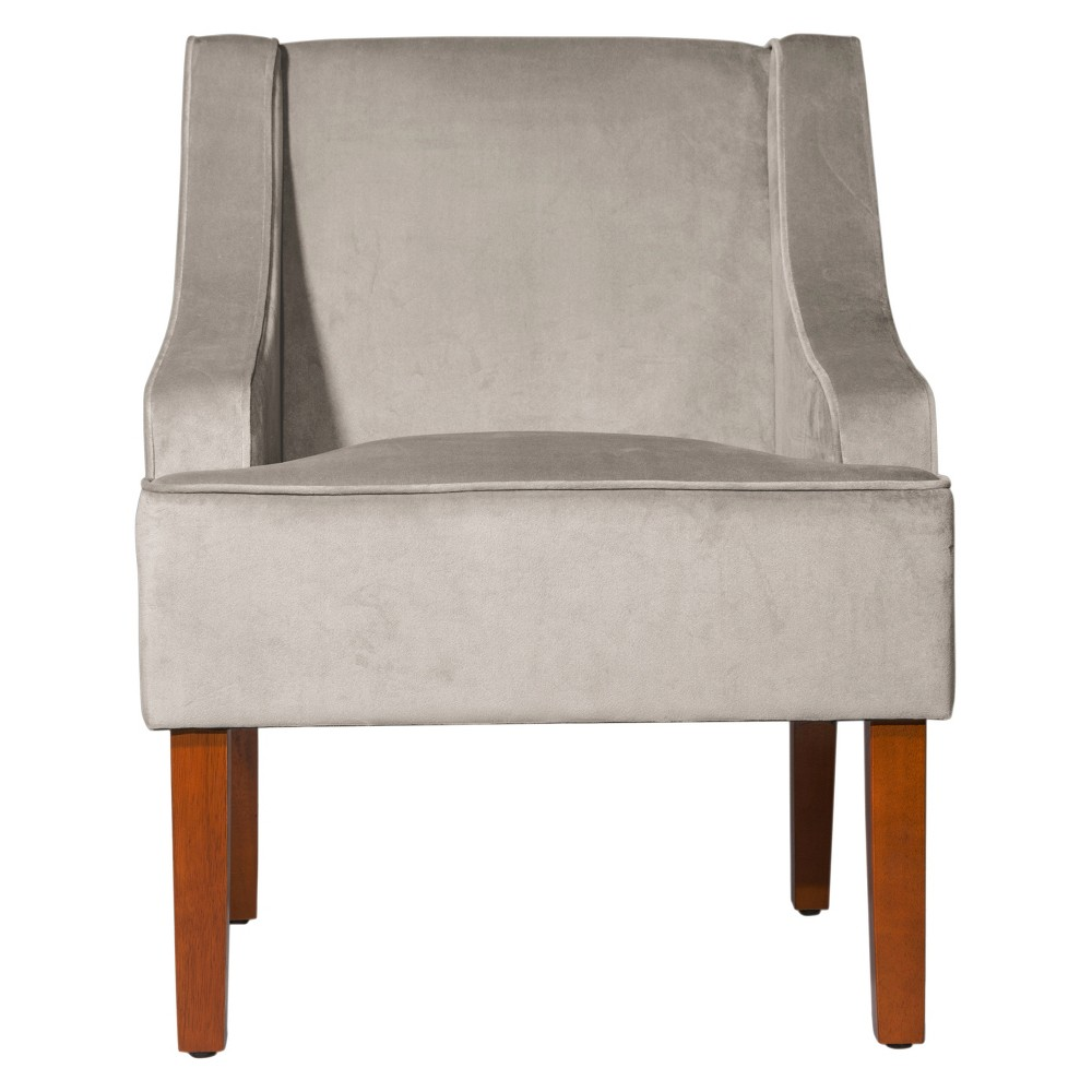 HomePop Swoop Arm Accent Chair - Dove/Gray
