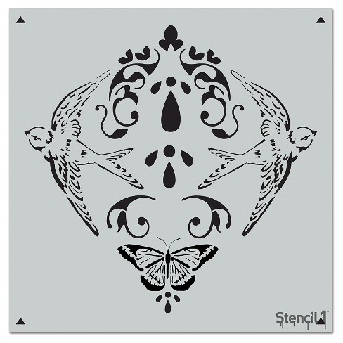 "Stencil1® Nature Damask Repeating - Wall Stencil 11"" x 11"" - image 1 of 3"