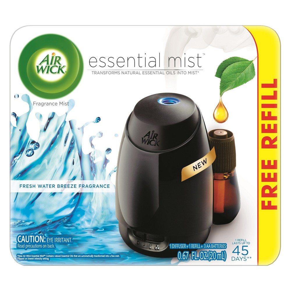 Image of Air Wick Essential Mist Fresh Water Breeze Air Freshener - 0.67oz