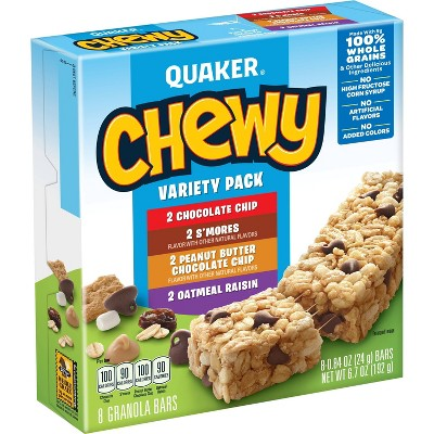 Quaker Chewy Variety Pack - 8ct
