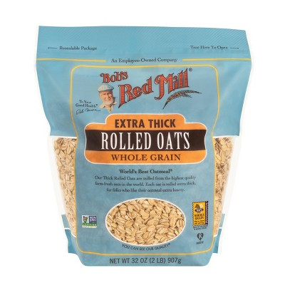 Oatmeal: Bob's Red Mill Extra Thick Rolled Oats