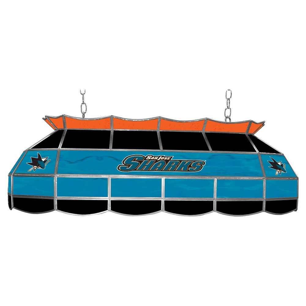 San Jose Sharks Stained Glass Lighting Fixture - 40 inch