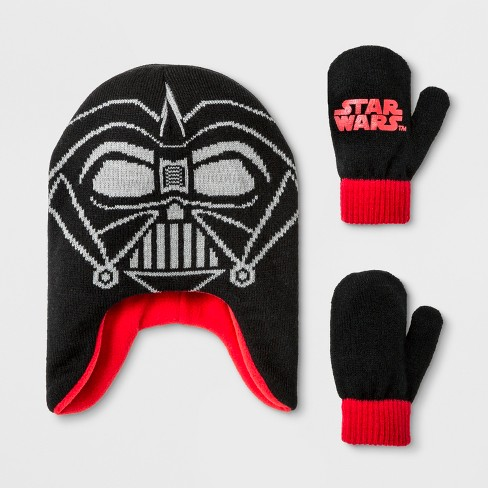 Toddler Boys  Star Wars Darth Vader Beanie And Mitten Set - Black ... 4cce5bb52ac6