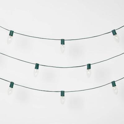 25ct Christmas Incandescent C9 String Lights Clear - Wondershop™