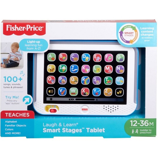 Fisher Price Laugh and Learn Smart Stages Tablet - Blue image number null