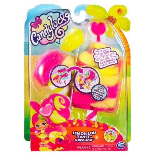 Candylocks Doll + Pet - Lemon Lou Twist & Peg-asis image number null