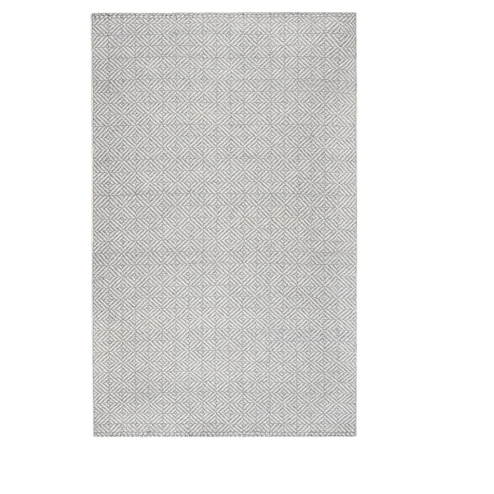 Gray Shapes Woven Area Rug 8'X10' - Anji Mountain