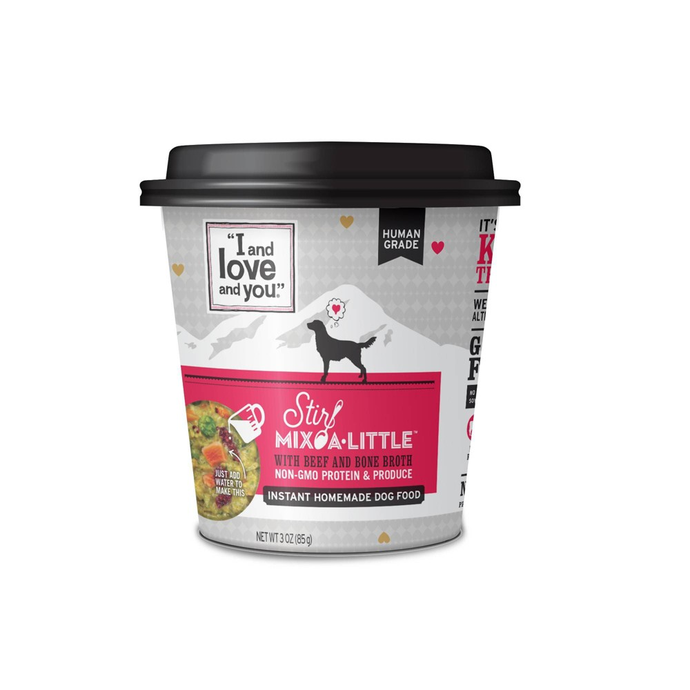 I and Love and You Stir Mix-a-Little Wet Dog Food with Beef & Bone Broth - 3oz