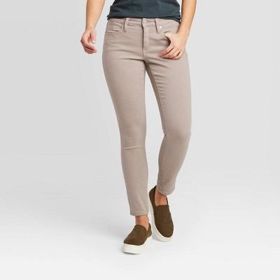 Women's Mid-Rise Skinny Jeans - Universal Thread™ Gray