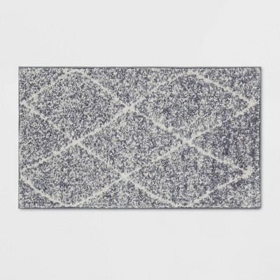 "1'8""X2'10"" Criss Cross Easy Care Rug Gray/Ivory - Threshold™"