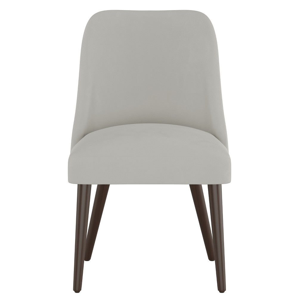 Geller Modern Dining Chair Light Gray Velvet - Project 62