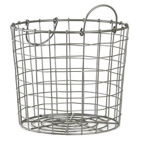 Silver Wire Round Basket Small - Room Essentials™ - image 1 of 1