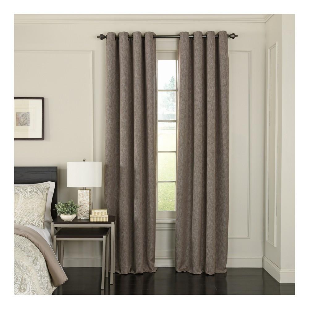 Arlette Blackout Window Curtain Dark Mushroom (Brown)/Solid 52x84 - Beautyrest