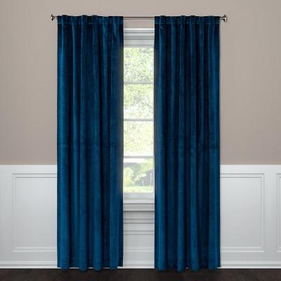 "108""x54"" Curtain Panel Velvet Navy - Project 62™"