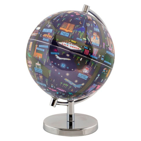 "Globee Las Vegas 4"" Illustrated Globe - image 1 of 1"