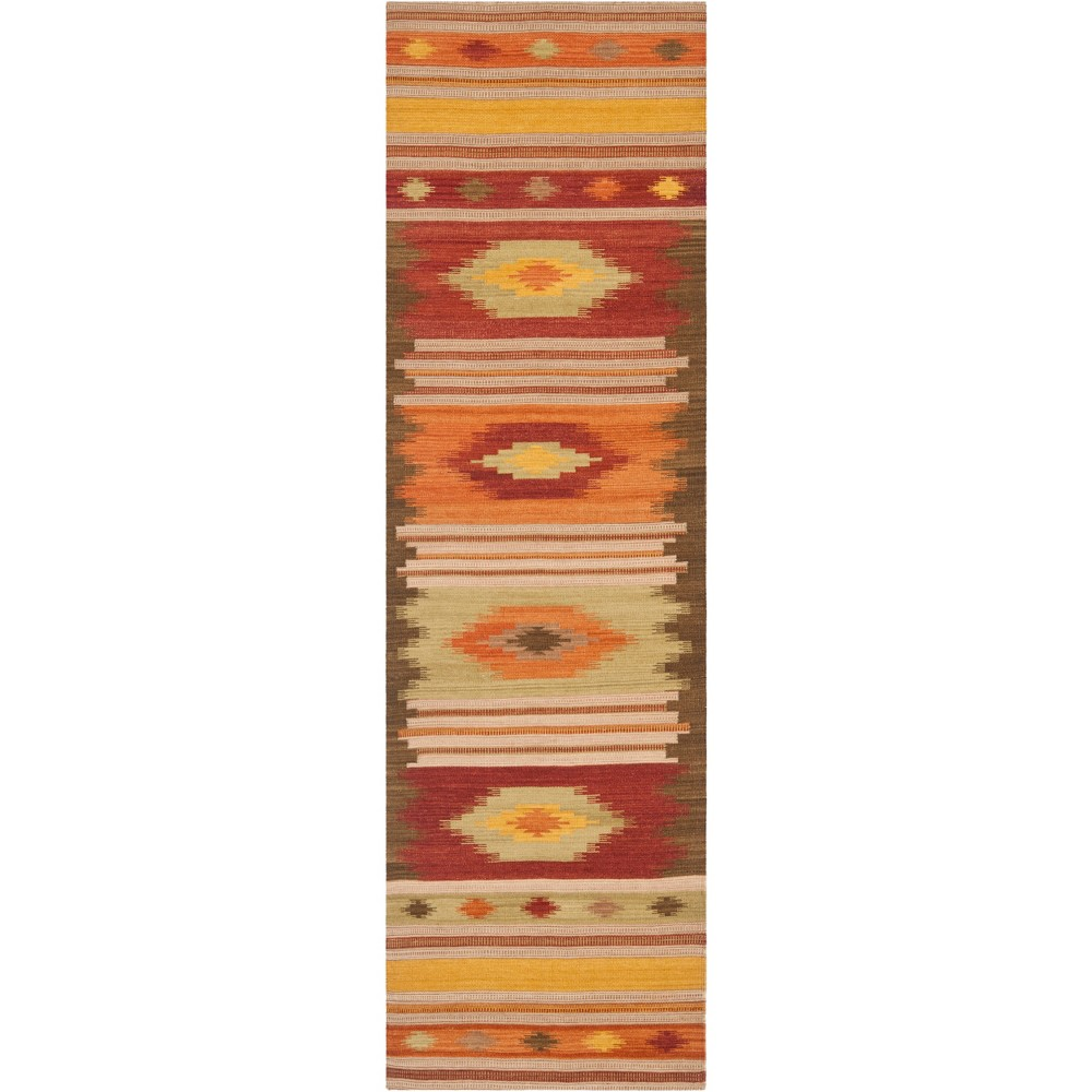 23X14 Geometric Design Woven Runner Brown - Safavieh Buy