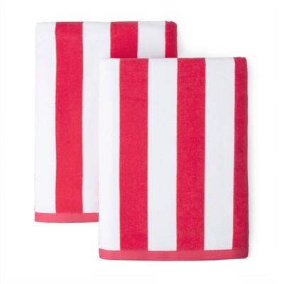 2pk Boardwalk Cabana Striped Beach Towels - Martha Stewart