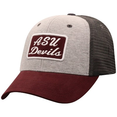 NCAA Arizona State Sun Devils Men's Gray Cotton with Mesh Snapback Hat