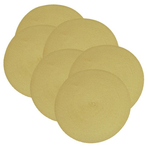 6pk Yellow Placemat - Design Imports - image 1 of 1