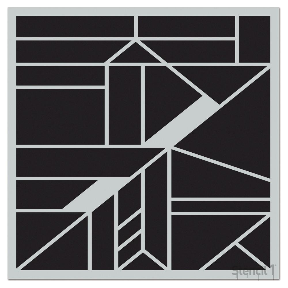 Stencil1 Geometric Repeating Wall Stencil 11 34 X 11 34