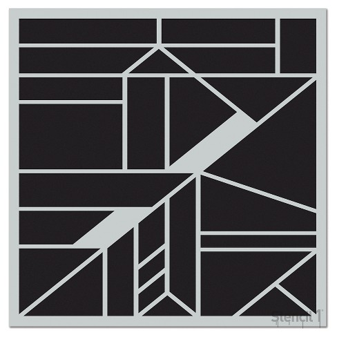 "Stencil1® Geometric Repeating - Wall Stencil 11"" x 11"" - image 1 of 3"
