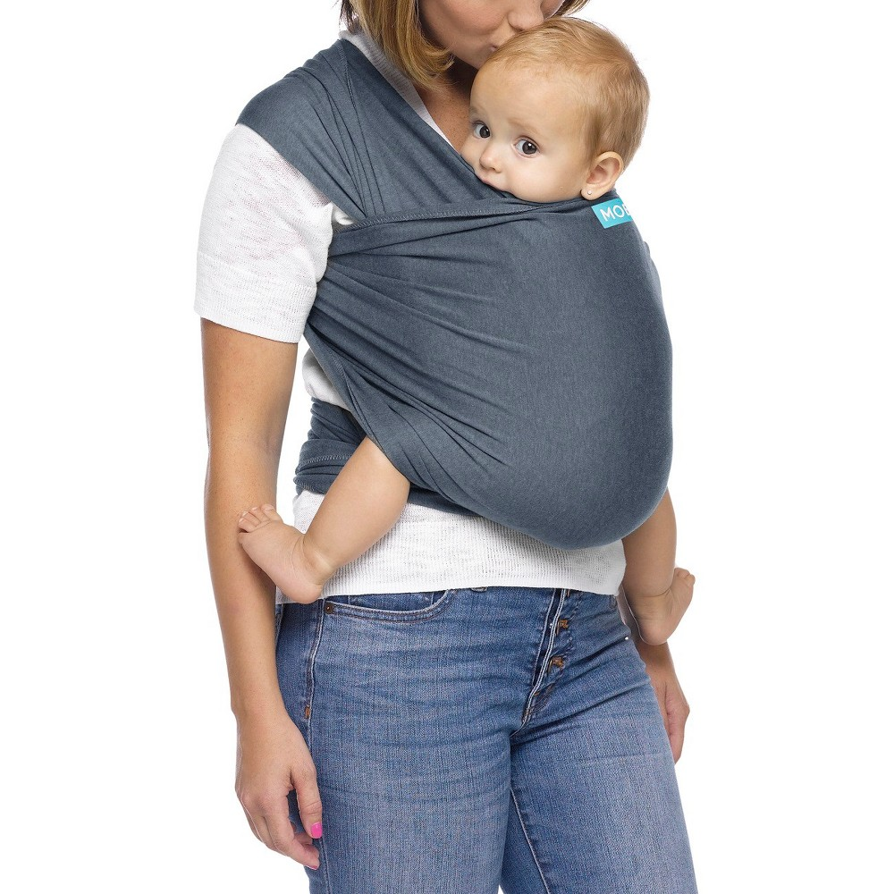 Image of Moby Classic Wrap Baby Carrier - Mist, Blue